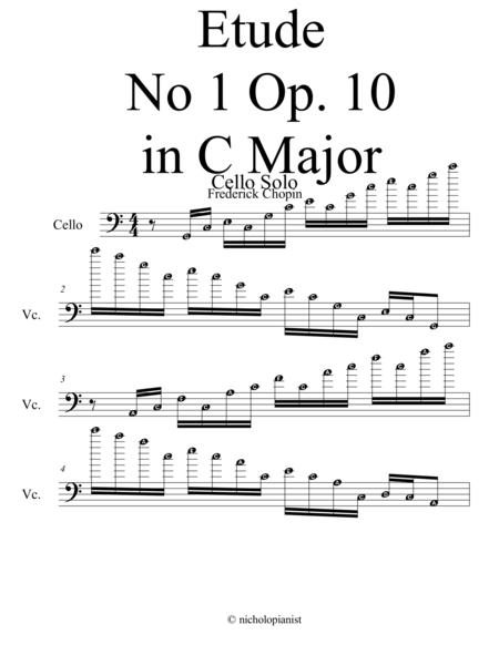 Etude No. 1 Op 10. Cello Solo