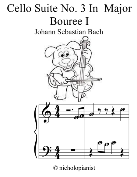 Cello Suite No. 3 in C major Bouree I