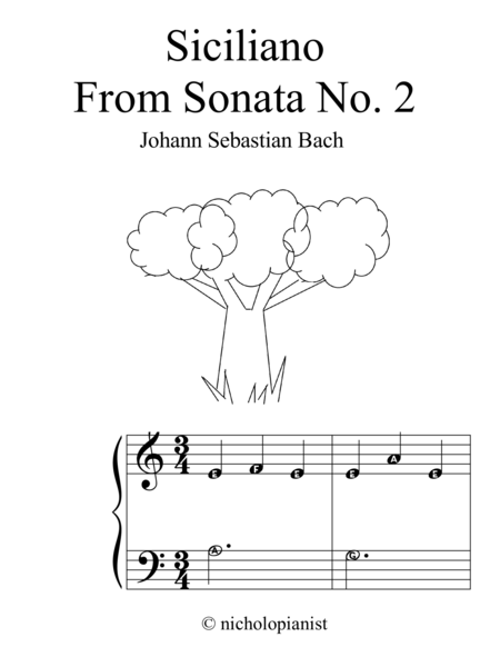 Siciliano from Sonata no. 2