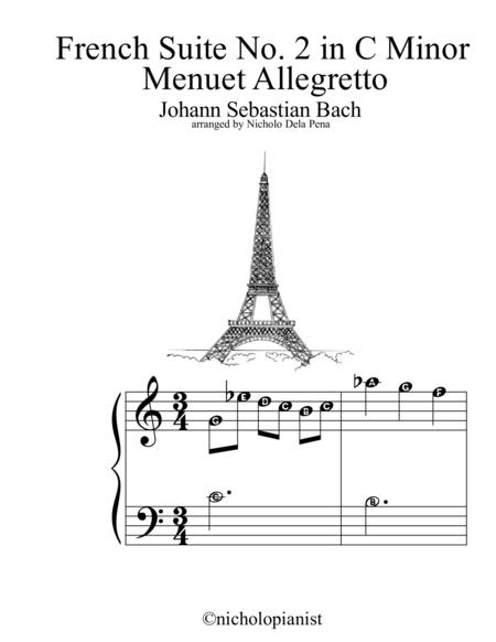 French Suite no. 2 in C minor Allegretto Menuetto