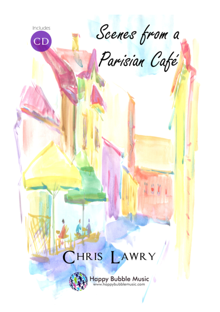 Scenes from a Parisian Cafe - Bb Brass (Treble Clef) & Piano - Complete Score of 14 Short Concert Pieces