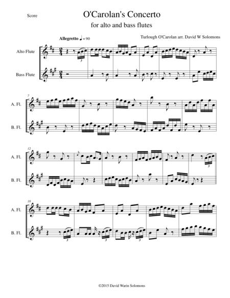 O'Carolan's Concerto for alto flute and bass flute