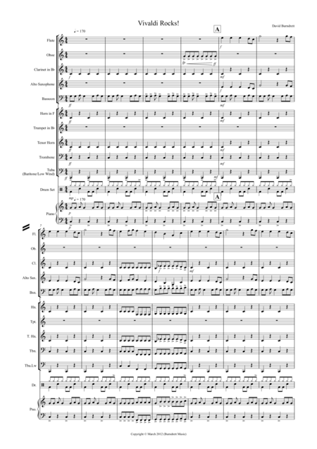 Vivaldi Rock's for School Concert Band