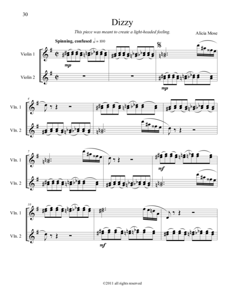 Twelve Canons for Two Violins - Dizzy