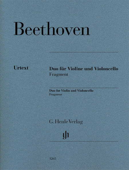 Duo for Violin and Violoncello, Fragment