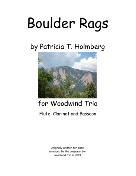 Boulder Rags for Woodwind Trio