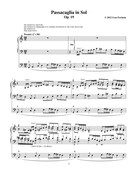 Passacaglia in Sol Op. 19