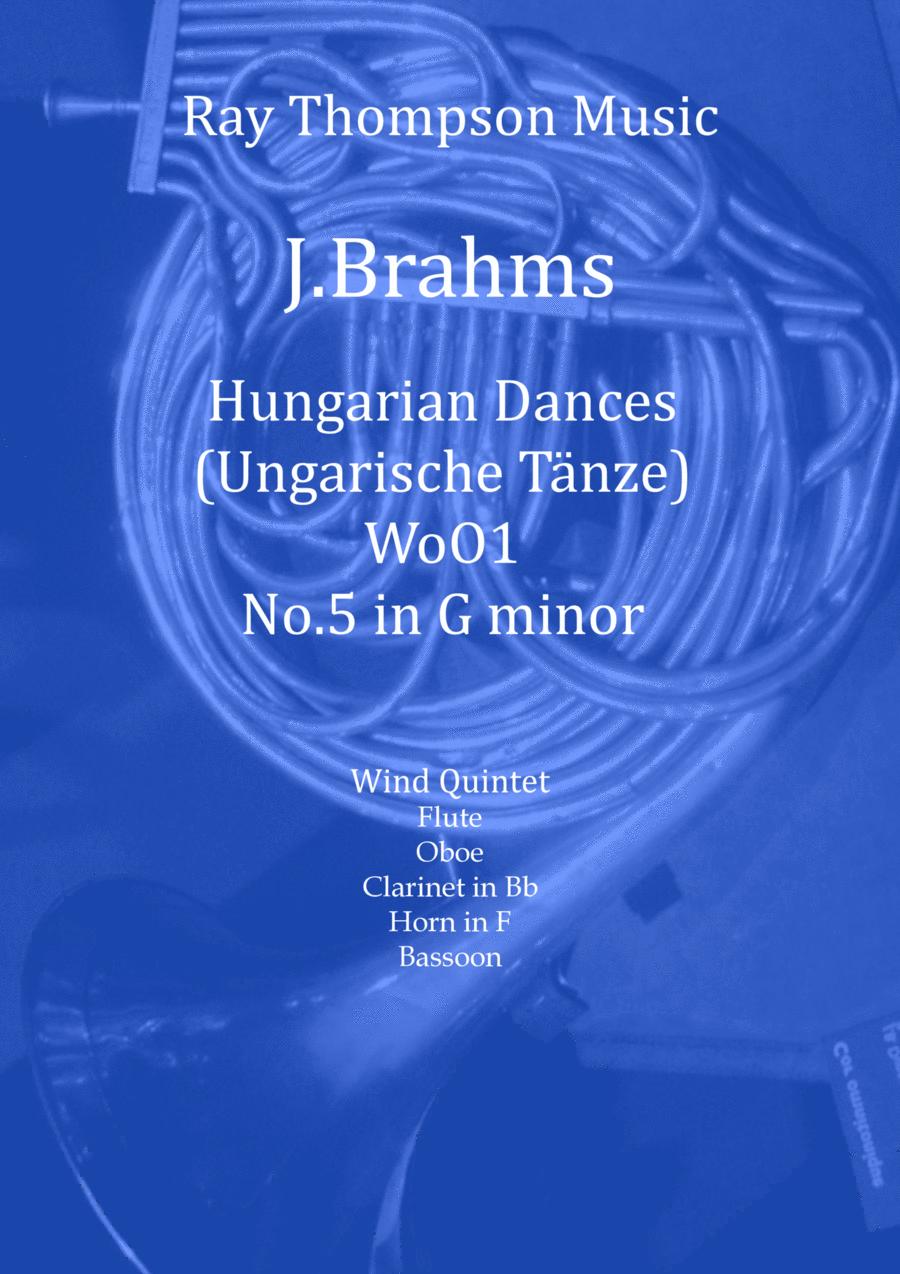 Brahms: Hungarian Dance (Ungarischer Tannz) No.5 - wind quintet