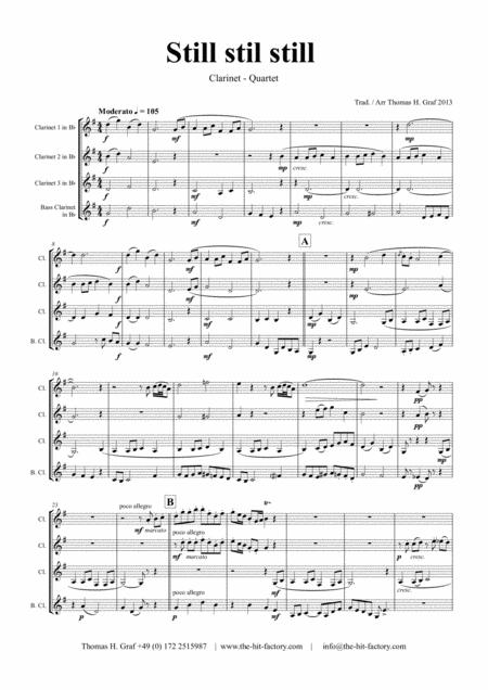Still Still Still - Christmas song - Clarinet Quartet
