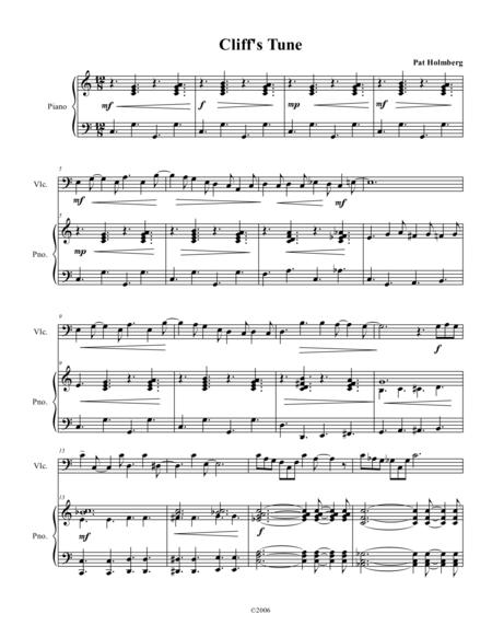 Cliff's Tune - for Cello and Piano