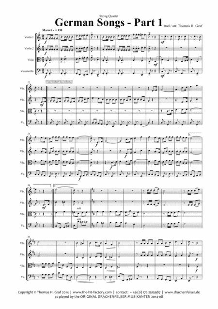 German Songs Part 1 - Oktoberfest - String Quartet