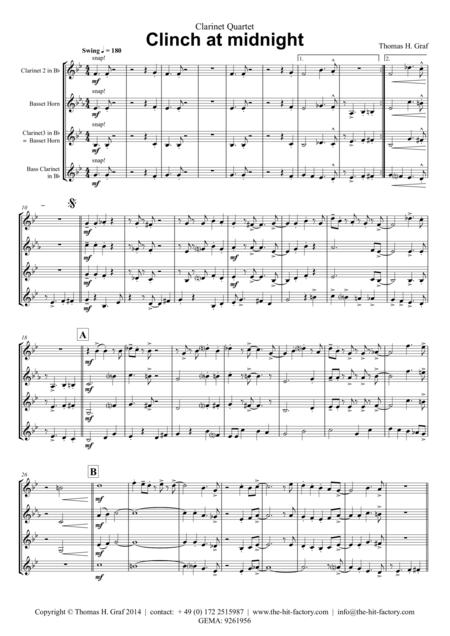 Clinch at midnight - Charleston/Two Step - Clarinet Quartet