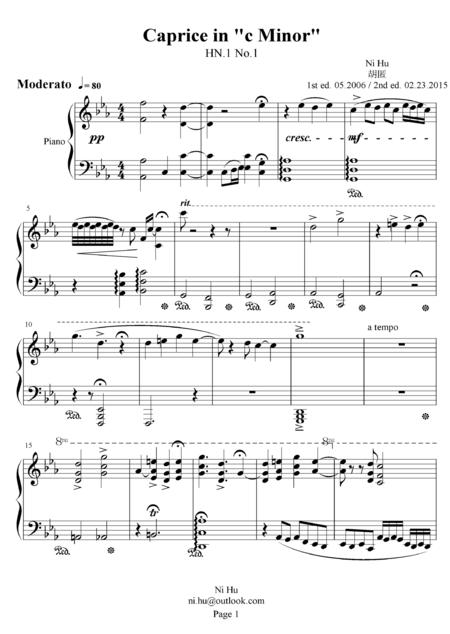 Caprice in c Minor. HN.1 No.1