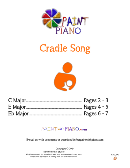 Cradle Song by Franz Schubert for Easy Piano