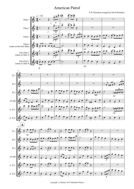 American Patrol for Flute Quartet