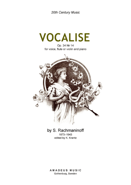 Vocalise for violin or flute and piano