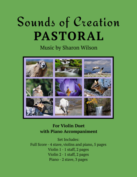 Sounds of Creation: Pastoral (violin duet with piano)
