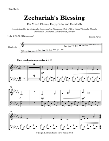 Zechariah's Blessing Handbell Parts