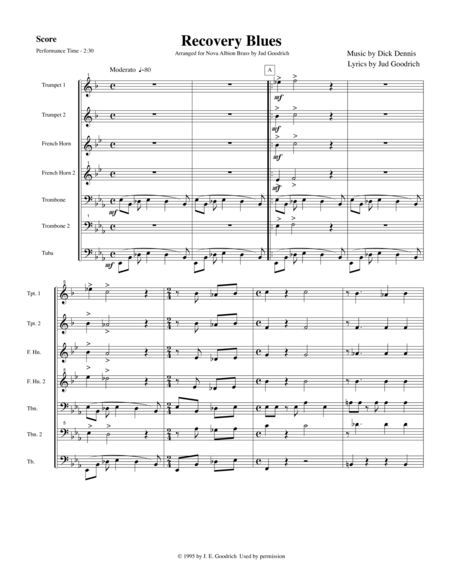 Recovery Blues for brass quintet