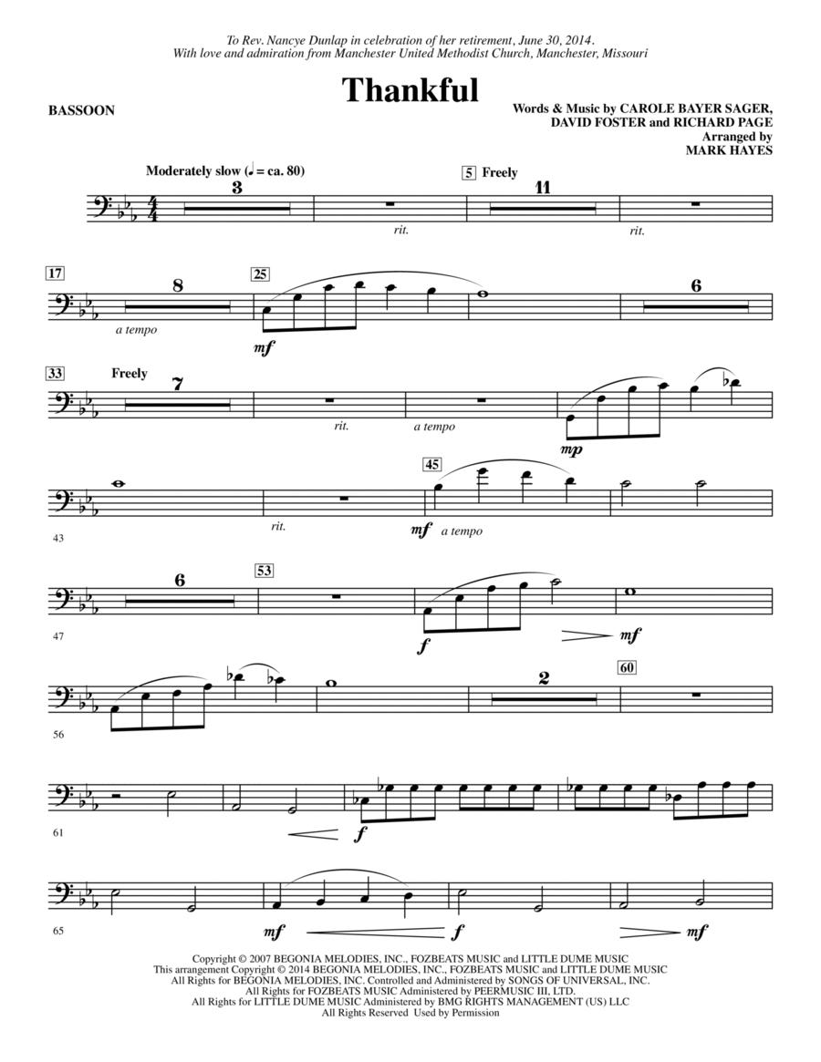Thankful - Bassoon