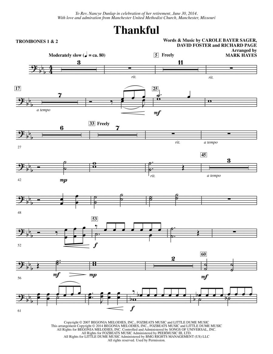 Thankful - Trombone 1,2