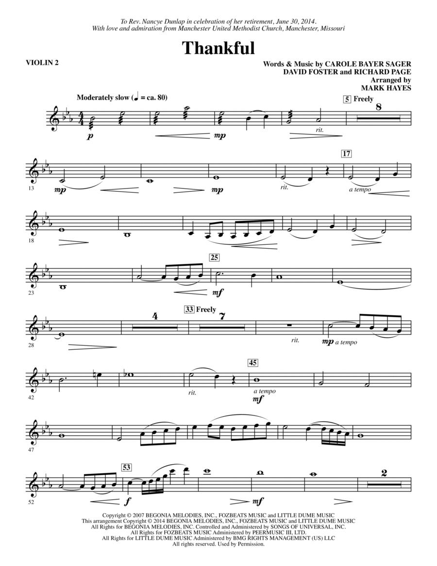 Thankful - Violin 2