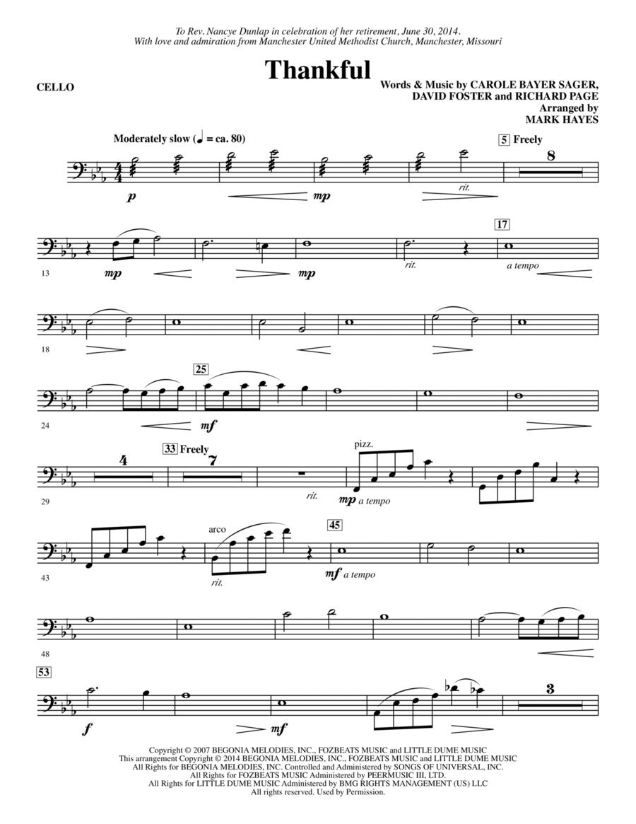 Thankful - Cello