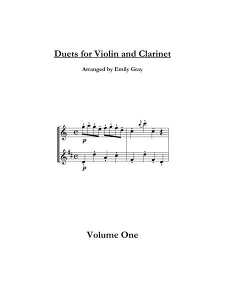 Duets for Violin and Clarinet, Volume One