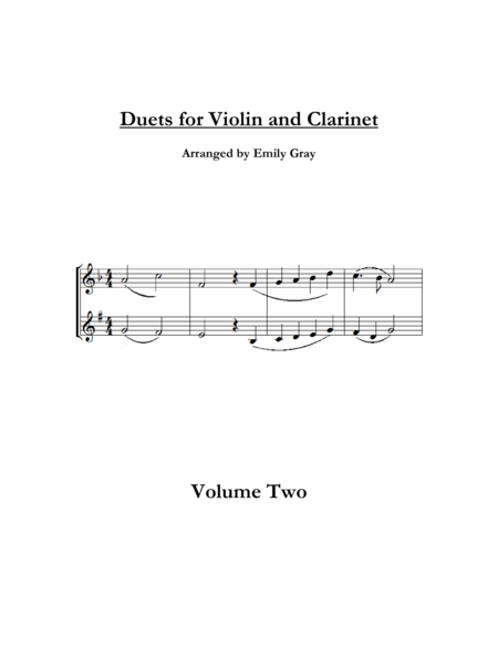 Duets for Violin and Clarinet, Volume Two