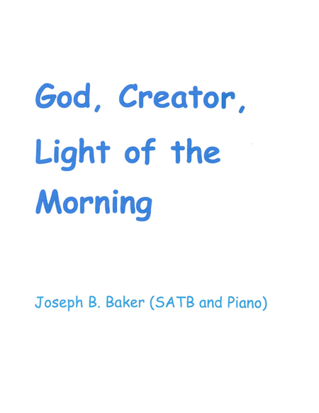 God, Creator, Lightof the Morning