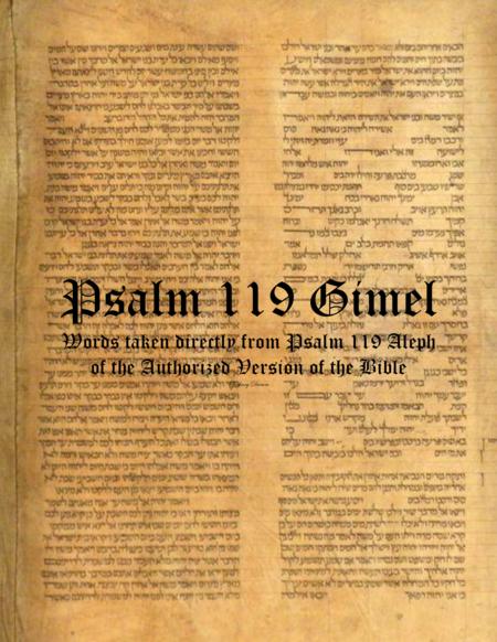 Psalm 119 Gimel