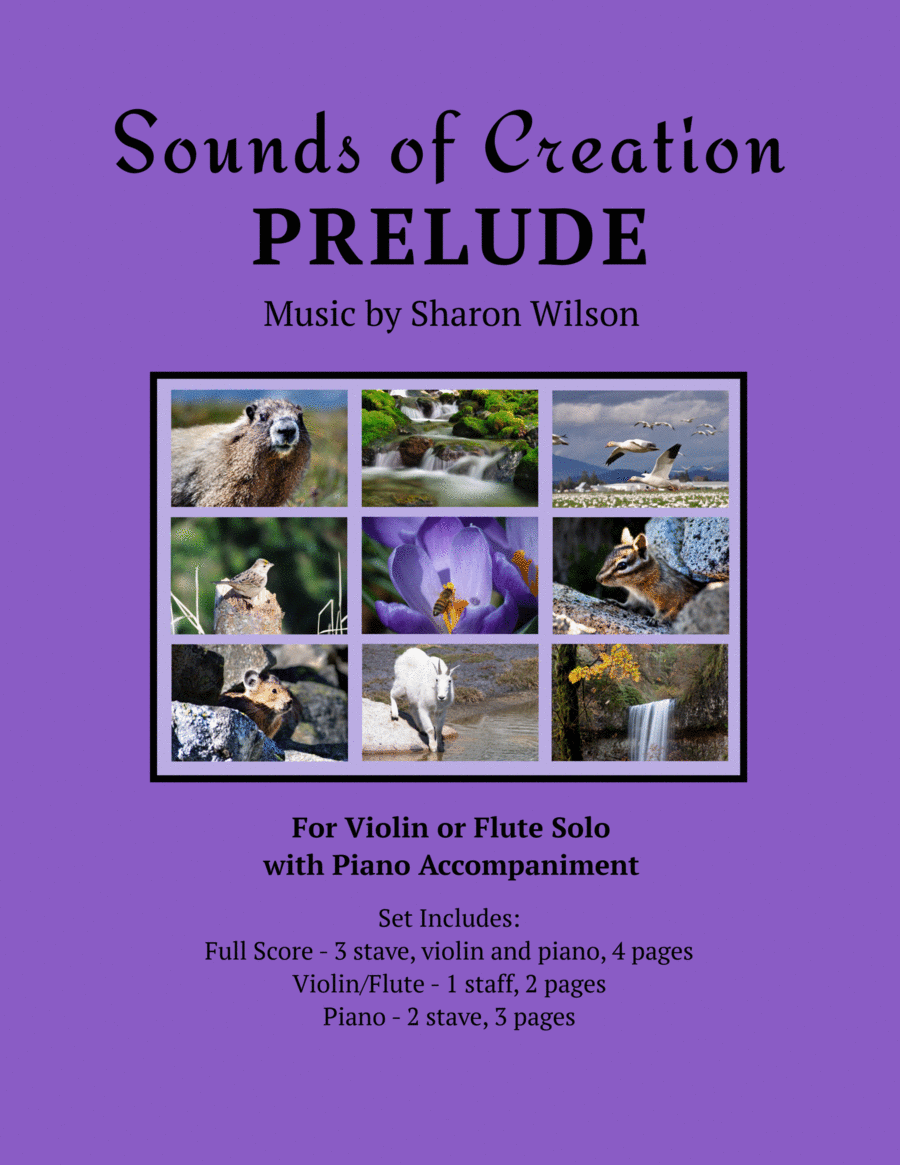 Sounds of Creation: Prelude (violin or flute solo with piano accompaniment)