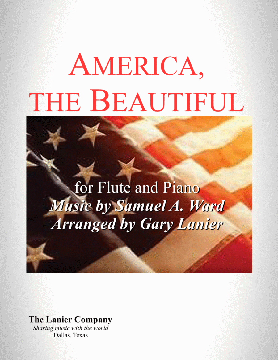 AMERICA, THE BEAUTIFUL (Duet – Flute and Piano/Score and Parts)
