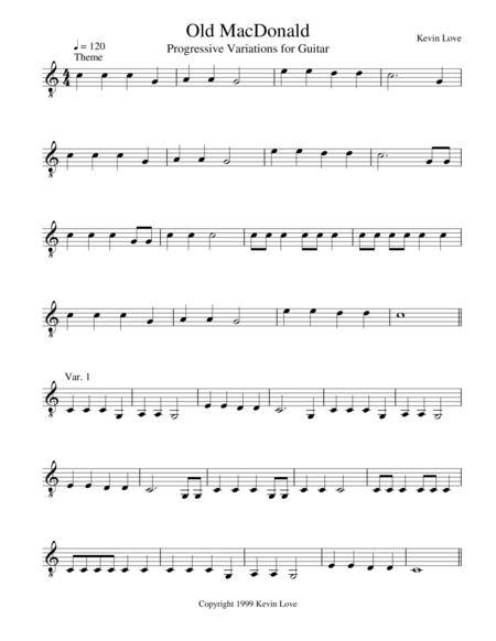 Old MacDonald - Progressive Variations for Guitar