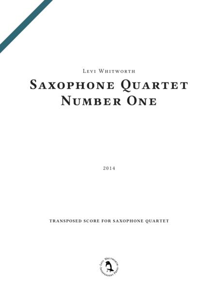 Saxophone Quartet Number One