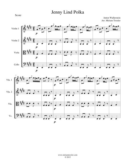 Jenny Lind Polka for String Quartet