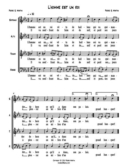 L'homme est un roi (mixed choir)