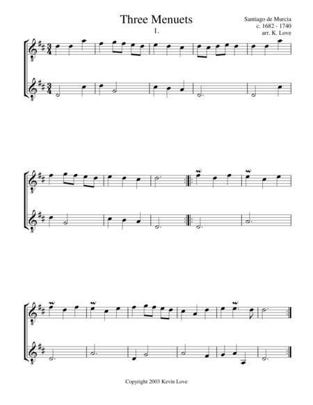 Three Menuets (Guitar Duo)