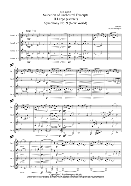 A Selection of Orchestral Excerpts arranged for horn quartet - horn quartet