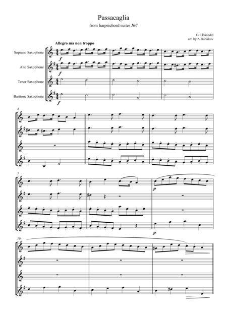 Passacaglia from harpsichord suites №7 SATB