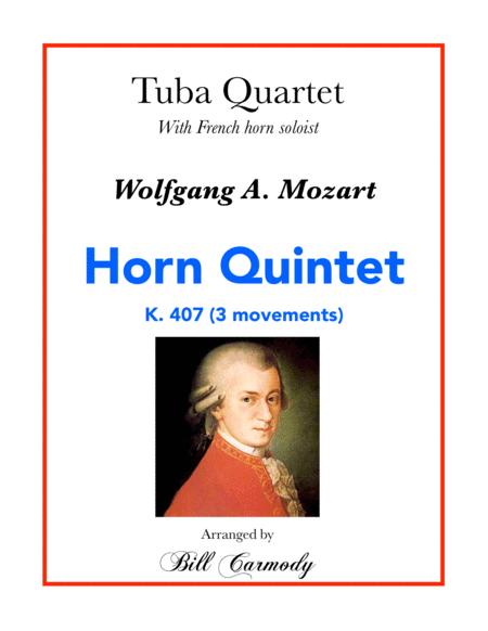 Mozart Horn Quintet w Tuba Quartet acc. (3 mvts)