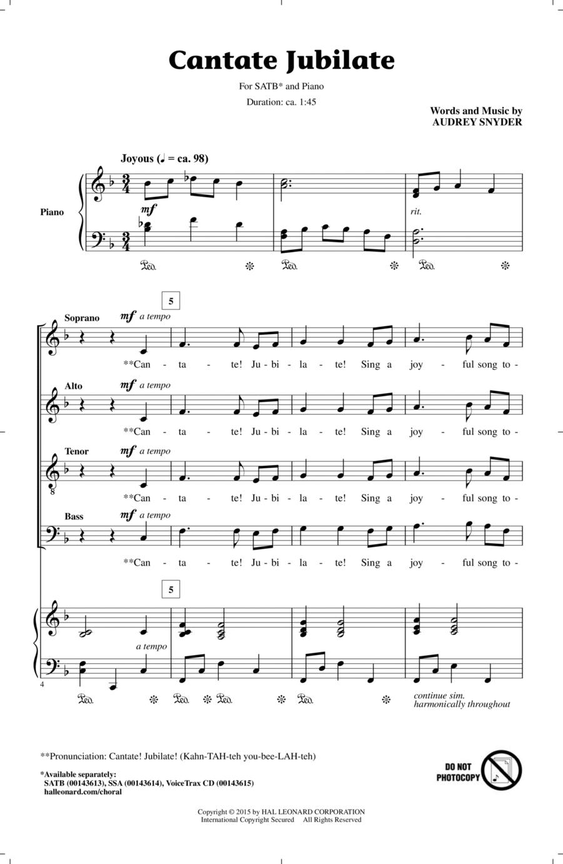 Cantate Jubilate