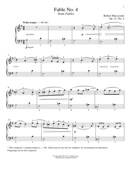 Fable No. 4, Op. 21
