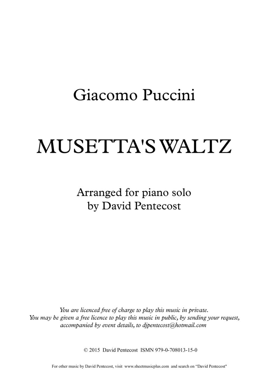 Musetta's Waltz (arr. Opus 15)