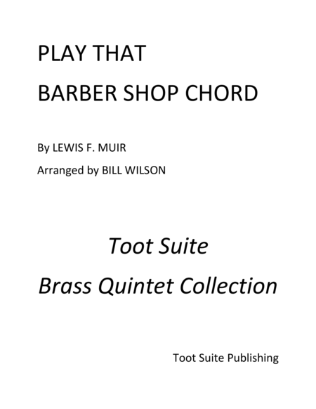 Play That Barber Shop Chord