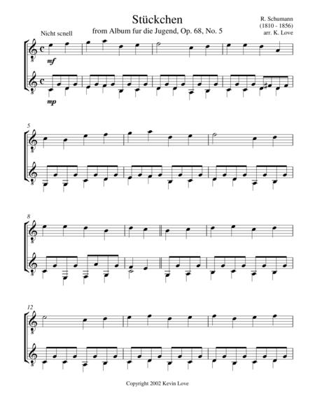 Stückchen, Op. 68, No. 5 (Guitar Duo)