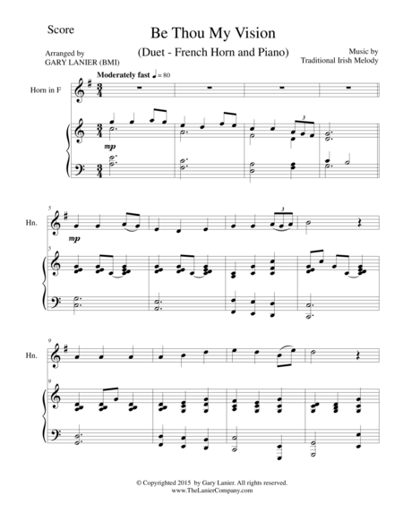 BE THOU MY VISION (Duet – French Horn and Piano/Score and Parts)