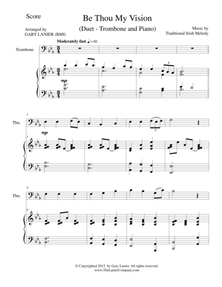 BE THOU MY VISION (Duet – Trombone and Piano/Score and Parts)