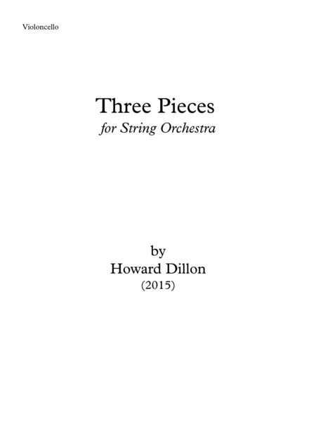 Three Pieces for String Orchestra Cello
