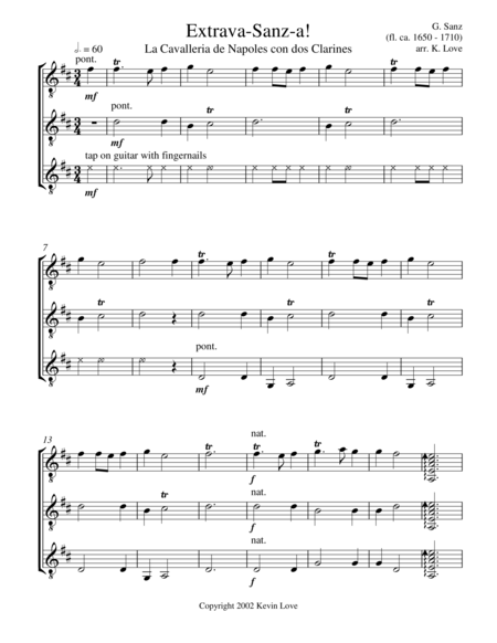 Extrava-Sanz-a! (Guitar Trio) - Score and Parts